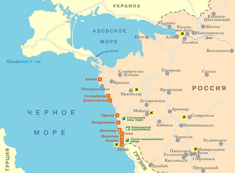 Divnomorsk On The Map And The Black Sea Region Where Is It