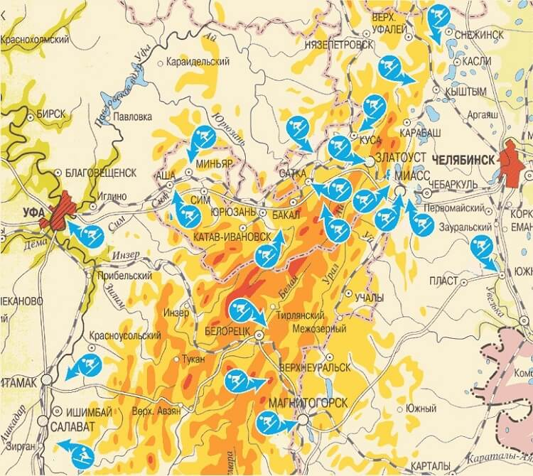 Abzakovo And Other Ski Resorts Of The Urals A Rating And A Map Of Complexes